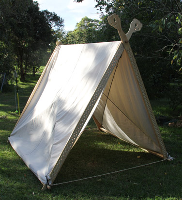 Viking tent plans viking tent heads on top front timbers for Canvas tent plans