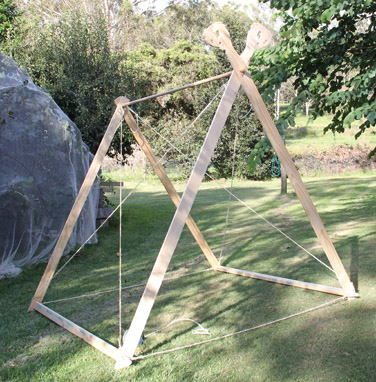 Tent Showing ropes & Tent Construction » SeahamCastle.com - Mobile Armoury and Chain ...