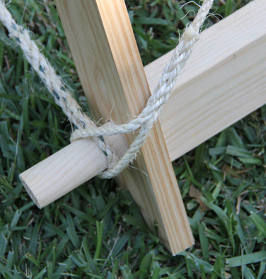 Ropes on bottom timbers & Tent Construction » SeahamCastle.com - Mobile Armoury and Chain ...