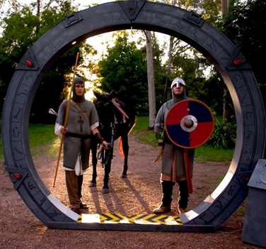 Knights Arrive through stargate