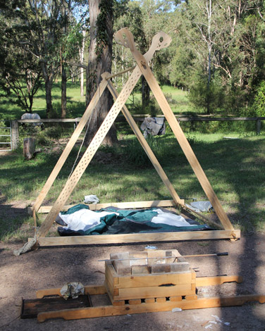 Viking Tent Timber A frame & Tent Construction » SeahamCastle.com - Mobile Armoury and Chain ...